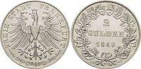 Doppelgulden 1849 Frankfurt-Stadt  fast vorzüglich  195,00 EUR kostenloser Versand