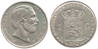 1 Gulden 1857 Netherlands Willem III 1849-1890 Very Fine / Extremely Fine  95,00 EUR  +  10,00 EUR shipping