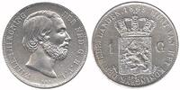 1 Guilder 1865 Netherlands Willem III 1849 - 1890 Extremely Fine  89,50 EUR  +  10,00 EUR shipping