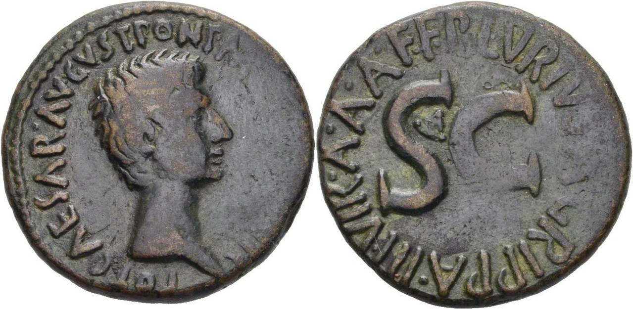 RÖMISCHE KAISERZEIT Augustus, 27 v. Chr. -14 n. Chr. As 8-7 ss