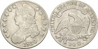 50 Cents Halfdollar 1830 USA  winziger Randfehler, ss  160,00 EUR
