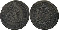 RDR Austria Schlesien Oppeln Kreuzer 1695 Walzenprägung, ss Leopold I., ... 35,00 EUR  zzgl. 3,00 EUR Versand