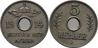 5 Heller 1914 DOA Deutsch Ostafrika  f.vz  30,00 EUR  zzgl. 3,00 EUR Versand