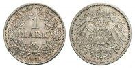 1 Mark 1911 G Kaiserreich Mzst. Karlsruhe Stempelglanz  60,00 EUR