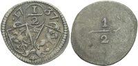 1/2 Kreuzer 1737 SchweizAppenzell Innerrhoden  ss  120,00 EUR