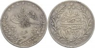 Ägypten 5 Qirsh Abdul Hamid II.