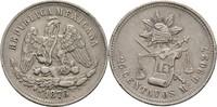25 Centavos 1876 Mexico  ss  25,00 EUR