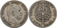 2 Mark 1876 C Preussen Wilhelm I., 1861-1888 f.ss  20,00 EUR  zzgl. 3,00 EUR Versand