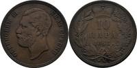 10 Para 1868 Serbien Michael III. Obrenovic, 1839 - 1868 ss-  20,00 EUR  zzgl. 3,00 EUR Versand