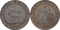 5 Centimos 1870 OM Spanien Prov. Regierung vz  40,00 EUR  zzgl. 3,00 EUR Versand
