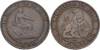 1 Centimo 1870 OM Spanien Prov. Regierung ss+  10,00 EUR  zzgl. 3,00 EUR Versand