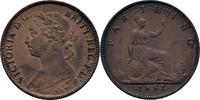 1 Farthing 1881 England Victoria, 1837-1901 vz  29,00 EUR  zzgl. 3,00 EUR Versand