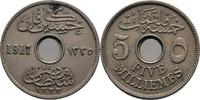 5 Milliemes 1917 Ägypten Hussein Kamil, 1914-17 vz  10,00 EUR  zzgl. 3,00 EUR Versand
