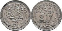 2 Piaster 1917 Ägypten Hussein Kamil, 1914-17 ss kl. Kratzer  15,00 EUR  zzgl. 3,00 EUR Versand