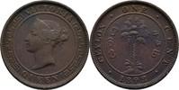 1 Cent 1892 Ceylon Victoria, 1837-1901 ss  10,00 EUR  zzgl. 3,00 EUR Versand