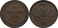 3 Kopeken 1860 EM Russland Alexander II., 1855-81 ss Randfehler  15,00 EUR  zzgl. 3,00 EUR Versand