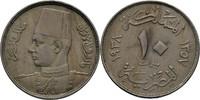 10 Milliemes 1938 Ägypten Farouk, 1936-52 vz  10,00 EUR  zzgl. 3,00 EUR Versand