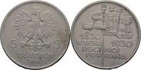 5 Zloty 1930 Polen  ss  150,00 EUR  zzgl. 3,00 EUR Versand