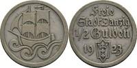 1/2 Gulden 1923 Danzig  ss  40,00 EUR  zzgl. 3,00 EUR Versand