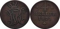 4 Heller 1821 Hessen Kassel Wilhelm I., 1813-1821 ss  28,00 EUR  zzgl. 3,00 EUR Versand