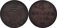 4 Heller 1818 Hessen Kassel Wilhelm I., 1813-1821 ss  23,00 EUR  zzgl. 3,00 EUR Versand