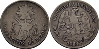 50 Centavos 1881 Mexico  Kratzer, f.ss  25,00 EUR  zzgl. 3,00 EUR Versand