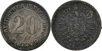 20 Pfennig 1876 Deutsches Reich  fleckige Tönung, vz  15,00 EUR  zzgl. 3,00 EUR Versand