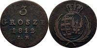 3 Grosze 1812 Polen Warschau Friedrich August von Sachsen, 1807 - 1814 ss  35,00 EUR  zzgl. 3,00 EUR Versand