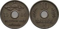 10 Heller 1909 DOA Deutsch Ostafrika  f.vz  28,00 EUR  zzgl. 3,00 EUR Versand