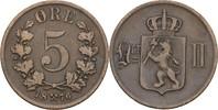 5 Öre 1876 Norwegen Oscar II., 1872-1907 ss  8,00 EUR  zzgl. 3,00 EUR Versand