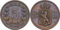 5 Öre 1899 Norwegen Oscar II., 1872-1907 ss  8,00 EUR  zzgl. 3,00 EUR Versand