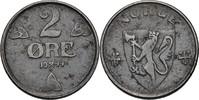 2 Öre 1944 Norwegen Haakon VII., 1905-57 vz fleckig  35,00 EUR  zzgl. 3,00 EUR Versand