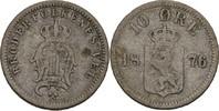 10 Öre 1876 Norwegen Oscar II., 1872-1907 fast ss  15,00 EUR  zzgl. 3,00 EUR Versand