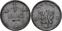 1 Öre 1943 Norwegen Haakon VII., 1905-57 vz zaponiert  10,00 EUR  zzgl. 3,00 EUR Versand