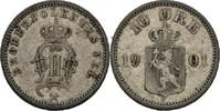 10 Öre 1901 Norwegen Oscar II., 1872-1907 ss  25,00 EUR  zzgl. 3,00 EUR Versand