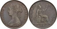 1/2 Penny 1861 England Victoria, 1837-1901 vz  25,00 EUR  zzgl. 3,00 EUR Versand