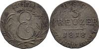 3 Kreuzer 1818 S Sachsen Coburg Saalfeld Ernst I., 1806-26 ss-  25,00 EUR  plus 3,00 EUR verzending