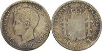 50 Centimos 1900 SMV Spanien Alfonso XIII., 1886-1931 fast ss  7,00 EUR  +  3,00 EUR shipping
