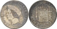 50 Centimos 1896 PGV Spanien Alfonso XIII., 1886-1931 fast ss  25,00 EUR  +  3,00 EUR shipping
