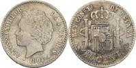 50 Centimos 1894 PGV Spanien Alfonso XIII., 1886-1931 fast vz/vz  25,00 EUR  +  3,00 EUR shipping