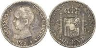 50 Centimos 1889 MPM Spanien Alfonso XIII., 1886-1931 fast ss  15,00 EUR  +  3,00 EUR shipping