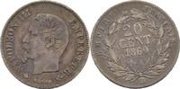 20 Centimes 1860 BB Frankreich Napoleon III., 1852-70 ss/vz  30,00 EUR  +  3,00 EUR shipping