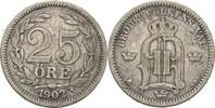 25 Öre 1902 EB Schweden Oscar II., 1872-1907 ss  8,00 EUR  +  3,00 EUR shipping