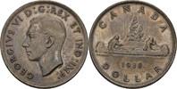 1 Dollar 1938 Kanada George VI., 1936-52 vz+ Tönung  40,00 EUR  zzgl. 3,00 EUR Versand