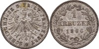 1 Kreuzer 1866 Frankfurt  vz  12,00 EUR  zzgl. 3,00 EUR Versand