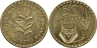 50 Francs 1977 Ruanda Essay - Probe Teestrauch fast Stempelglanz  60,00 EUR  plus 3,00 EUR verzending
