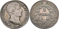 Franc 1806 Frankreich Paris Napoleon I., 1804-1815 kl. Randfehler, ss+  115,00 EUR  zzgl. 3,00 EUR Versand