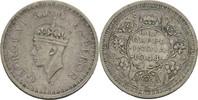 1/2 Rupie 1944 L Brit. Indien Georg VI., 1936-52 ss Kratzer  7,00 EUR  zzgl. 3,00 EUR Versand