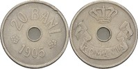 20 Bani 1905 Rumänien Karl I., 1881-1914 ss Kratzer  10,00 EUR  zzgl. 3,00 EUR Versand