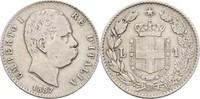 1 Lira 1887 M Italien Umberto I., 1878-1900 ss-  8,00 EUR  zzgl. 3,00 EUR Versand